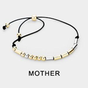 Mother morse code bracelet